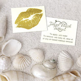 Lips Tattoo and Instructions on How to Wear Metallic Tats | Image by Jewel Flash Tattoos