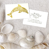 Dolphin metallic gold tattoo