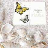 Gold and silver butterfly tattoos