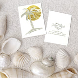 Palm tree metallic tattoo stickers for summer and beach parties