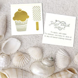 Cupcake and Popsicle gold and silver metallic tattoos
