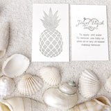 Pineapple fake tattoo stickers made of silver foil