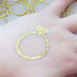 Ring temporary metallic gold tattoo sticker