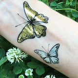 Butterfly temporary metallic tattoos
