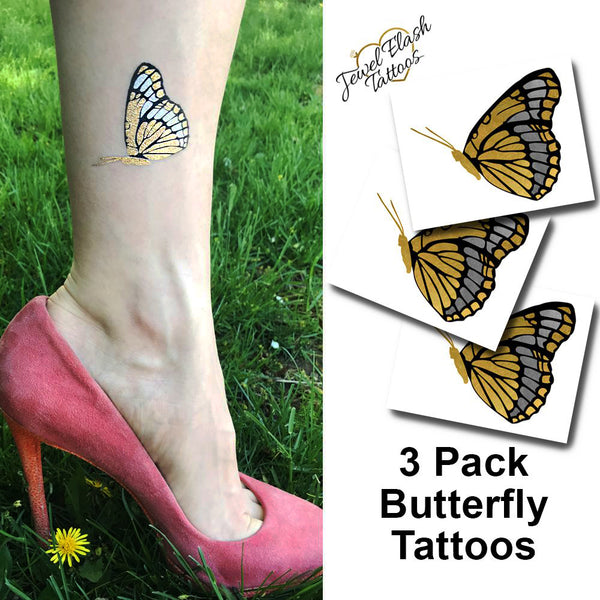 Monarch butterfly temporary tattoos for adults | Photo by Jewel Flash Tattoos