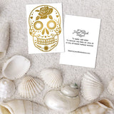 Calavera temporary tattoos for females who love sugar skulls | Image by Jewel Flash Tattoos