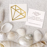 Gold diamond temporary tattoo and application instruction | Image by Jewel Flash Tattoos