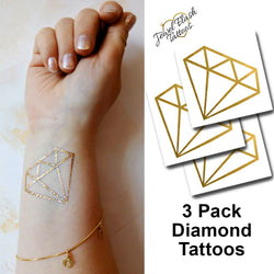 Diamond temporary tattoos for women to wear on wrist | Jewel Flash Tattoos