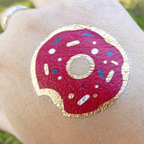 Pink and gold donut temporary tattoos for fun | Photo by Jewel Flash Tattoos