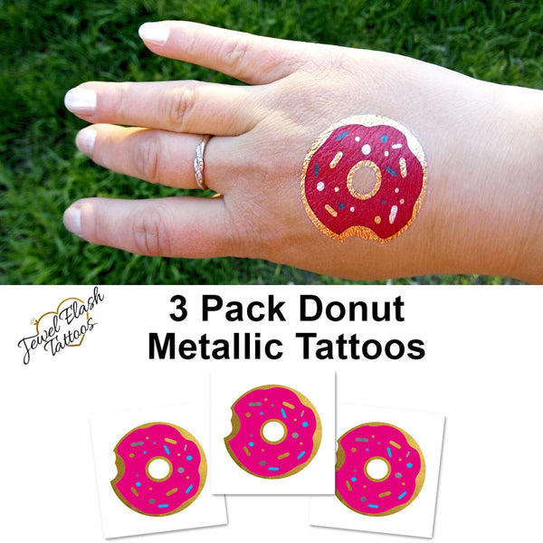 Donut tattoo for summer | Photo by Jewel Flash Tattoos
