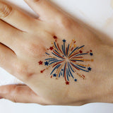 Fireworks flash tattoos for 4th of July party | Photo by Jewel Flash Tattoos