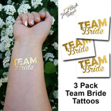 Gold team bride bachelorette tattoos for wedding | Photo by Jewel Flash Tattoos