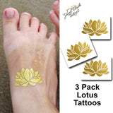 Lotus temporary tattoos for yoga women | Photo by Jewel Flash Tattoos