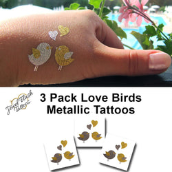 Love birds tattoos for women wrist, arm or foot | Photo by Jewel Flash Tattoos