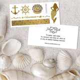 Mermaid, Anchor, Bracelet Metallic Tattoos in Gold and Silver Foil by Jewel Flash Tattoos