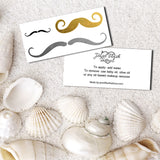 Mustache temporary tattoos for women front and back | Jewel Flash Tattoos