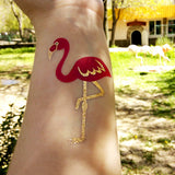 Pink flamingo temporary tattoos for women | Photo by Jewel Flash Tattoos