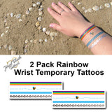 Summer temporary tattoos with rainbow and bee | Jewel Flash Tattoos photo
