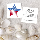 USA flag temporary sticker and instructions | Image by Jewel Flash Tattoos