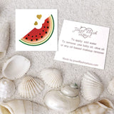 Temporary watermelon tattoo and application instruction | Image by Jewel Flash Tattoos