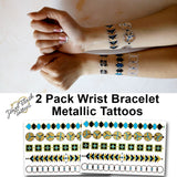 Wrist bracelet temporary tattoos | Photo by Jewel Flash Tattoos
