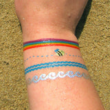 Bracelet temporary tattoo stickers for wrist