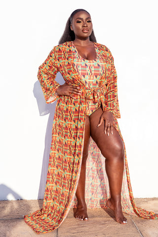 ASANTEWA COVER-UP - KUMASI PRINT  (COVER-UP ONLY)