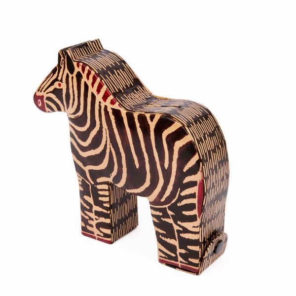 Zebra Money Box - Eclectic Bohemian