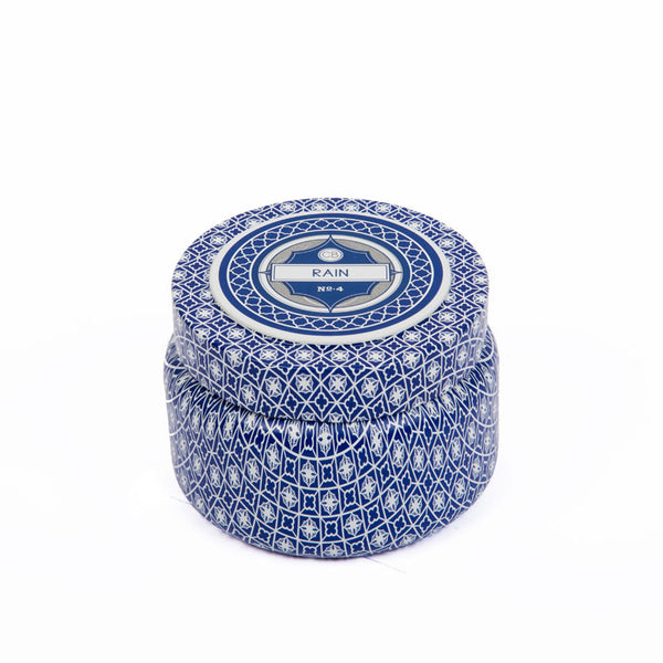Rain Printed Travel Tin Candle - Eclectic Bohemian