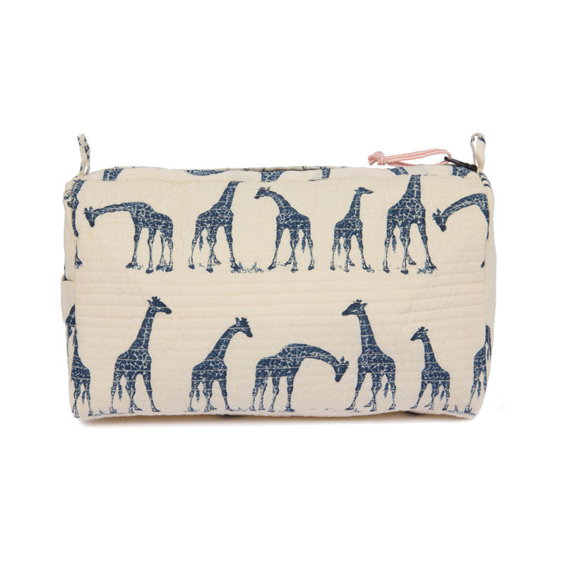 Giraffe Cotton Toiletry Bag - Eclectic Bohemian