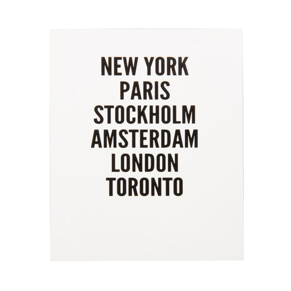 New York, Paris, Stockholm Photoblock - Eclectic Bohemian