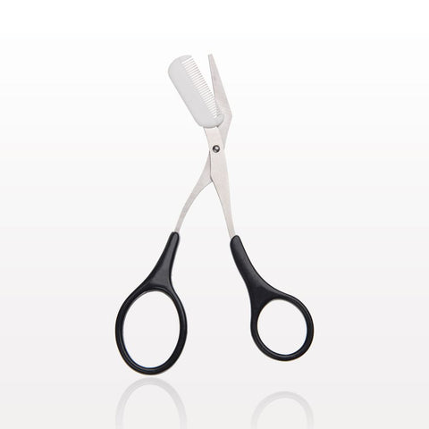 Brow Trimming Scissor with Removable Comb