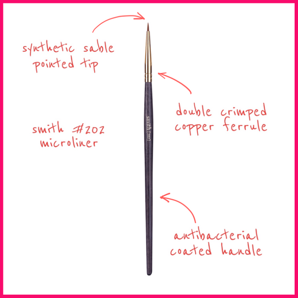 Smith Cosmetics #202 Microliner Brush