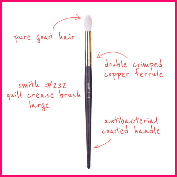 Smith Cosmetics #232 Quill Crease Brush Large