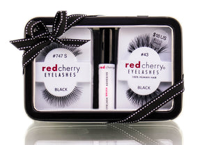 Red Cherry Eyelash Brush Adhesive Holiday Gift Set