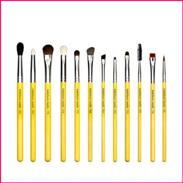 Bdellium Studio Eyes 12Pc. Brush Set With Roll-Up Pouch