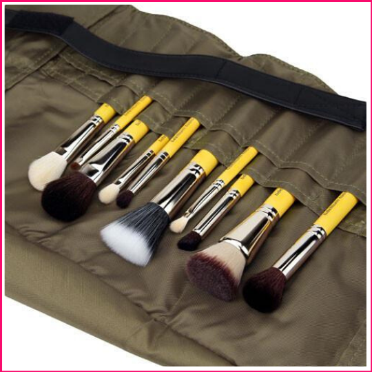 PREORDER: Bdellium Tools Studio Mineral 10Pc. Brush Set With Roll-Up Pouch