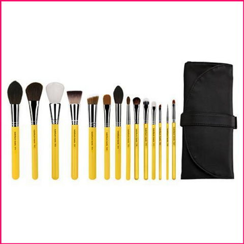 PREORDER: Bdellium Studio The Collection 14pc Brush Set with Roll-up Pouch