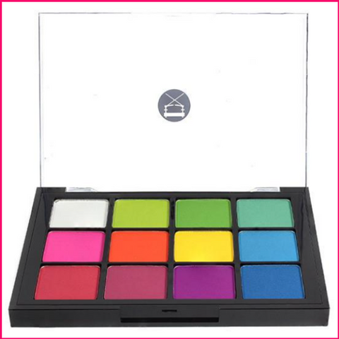 PREORDER Viseart 12-Color Eyeshadow Palette - 08 Editorial Brights Matte