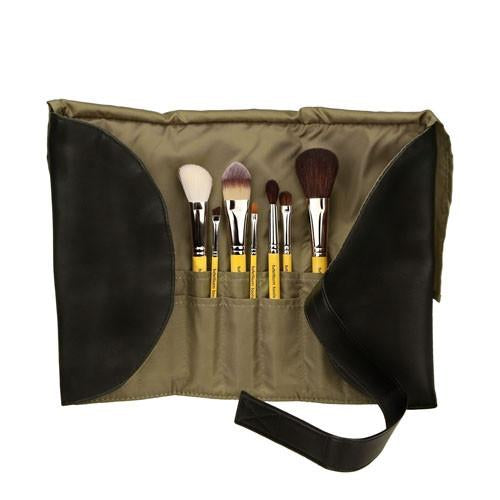 Bdellium Studio Basic 7pc Brush Set with Roll-Up Pouch