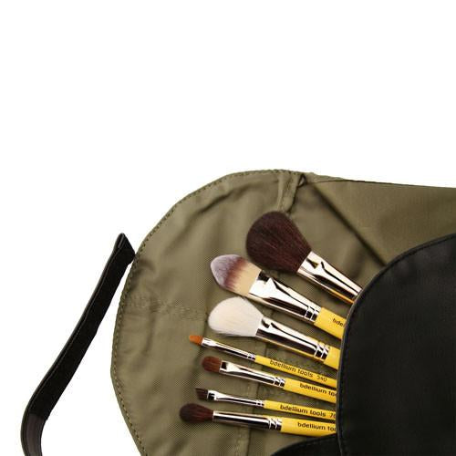 PREORDER: Bdellium Studio Basic 7pc Brush Set with Roll-Up Pouch