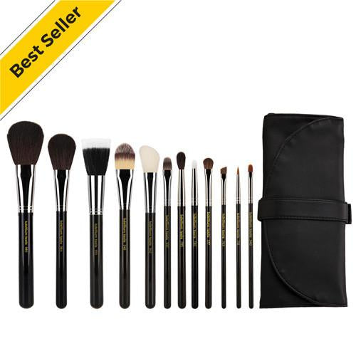 Bdellium Maestro Complete 12Pc. Brush Set With Roll-Up Pouch