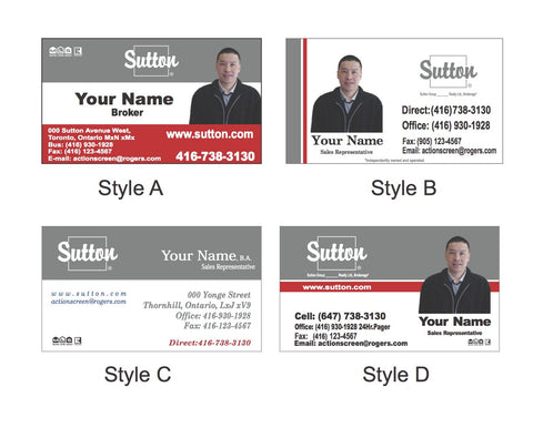 Sutton action screen business cards reheart Image collections