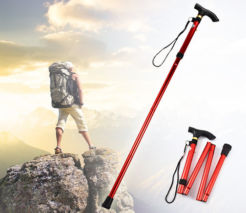 Aluminum Metal Folding Walking Stick