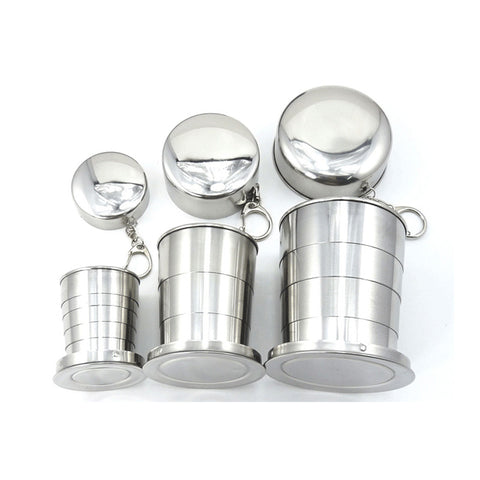 retractable stainless steel cup