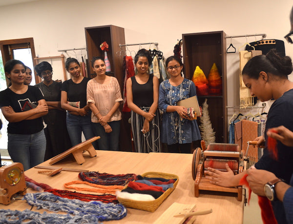 Interaction with budding Textile designers