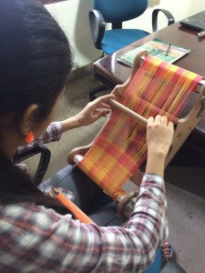 Class VIII student Swetha's take on weaving!