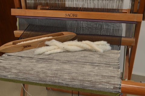 khadi yarn weaving