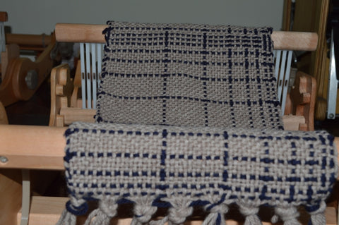 Fibonacci scarf on Rigid Heddle loom