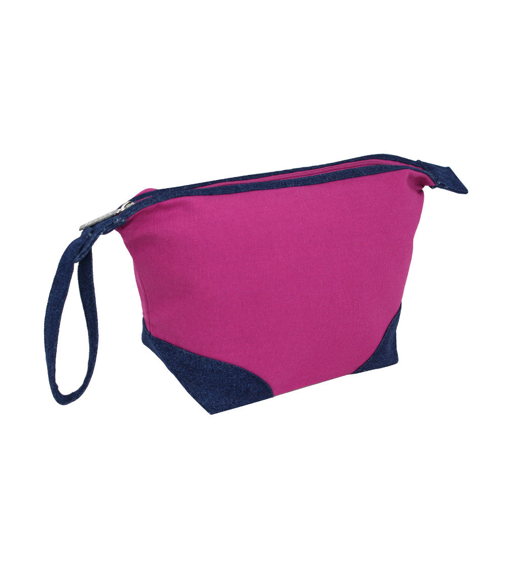 YOLO Womens Arista DBlueDenimRadiantOrchid Small Pouch